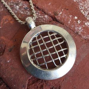 Sterling Silver Dream Catcher Pendant Necklace
